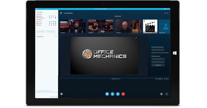 reuniões de divulgação com Skype