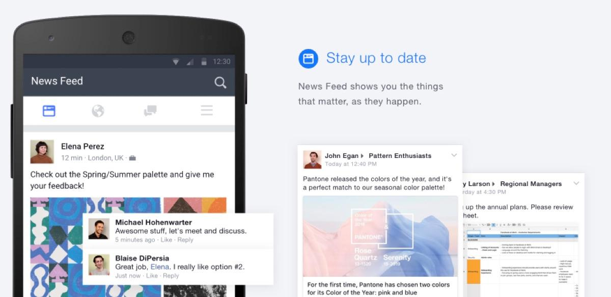 Facebook no Trabalho: Feeds e notificação