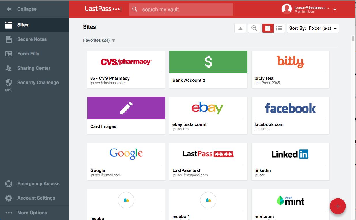 LastPass Interface 3
