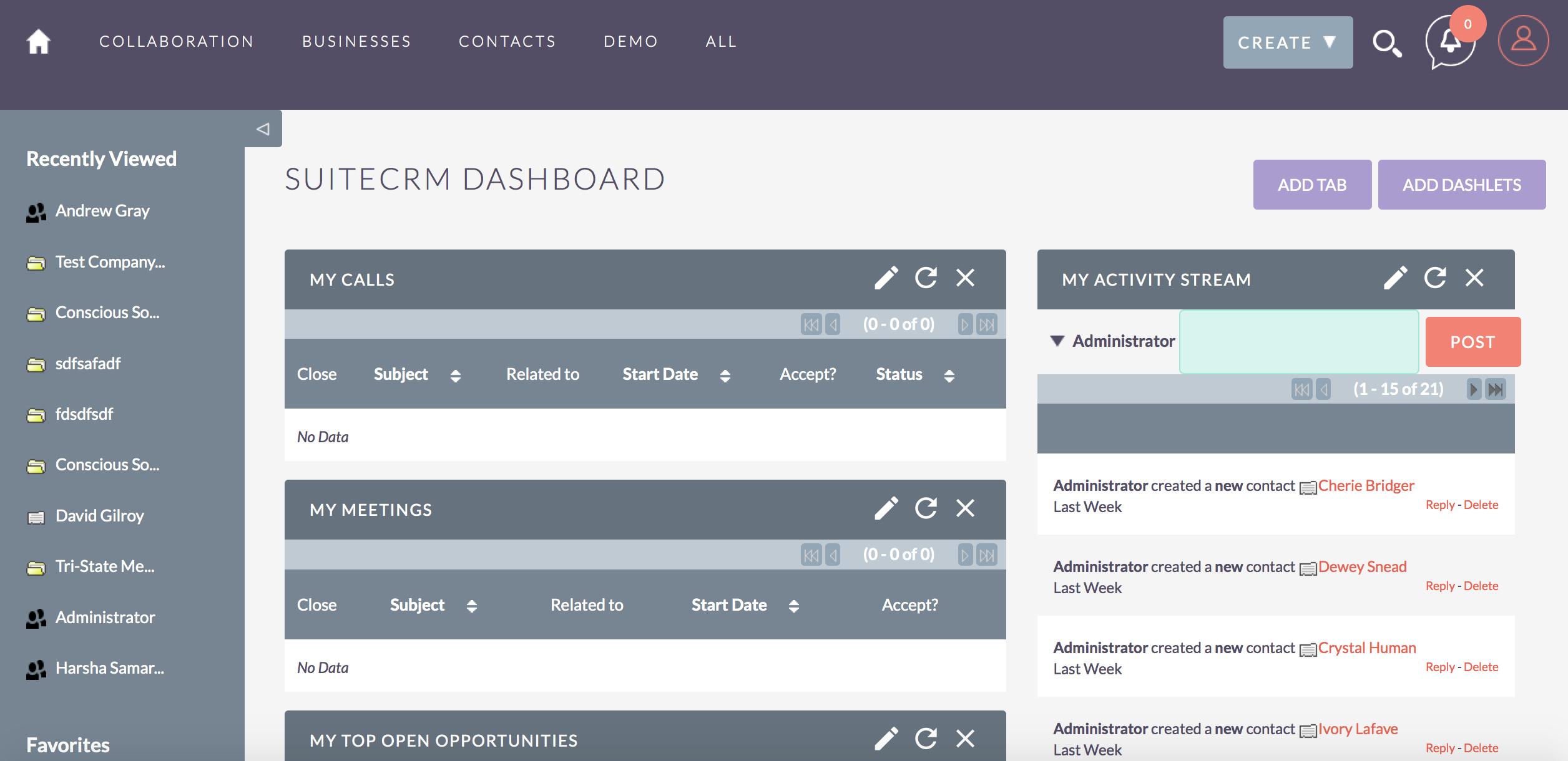 Avaliação SuiteCRM: Um CRM Open Source moderno - appvizer