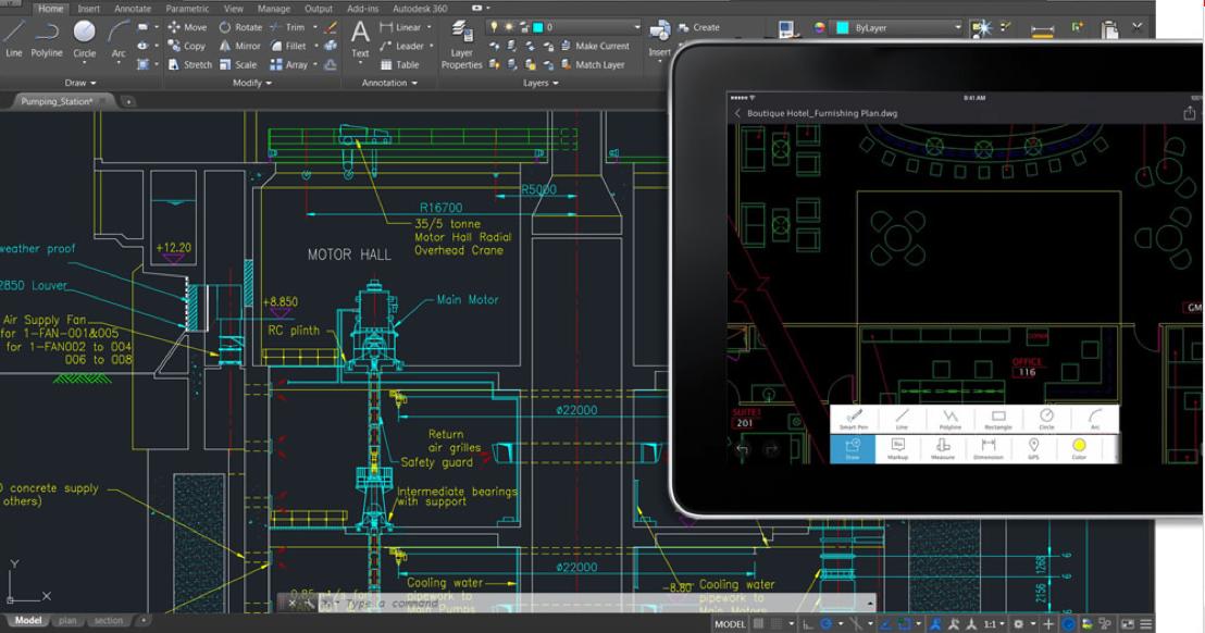 Desenhar, editar e visualizar desenhos 2D em vários dispositivos Meça seus projetos com precisão no site Acesse seus desenhos através de serviços de armazenamento em nuvem, o mais conhecido