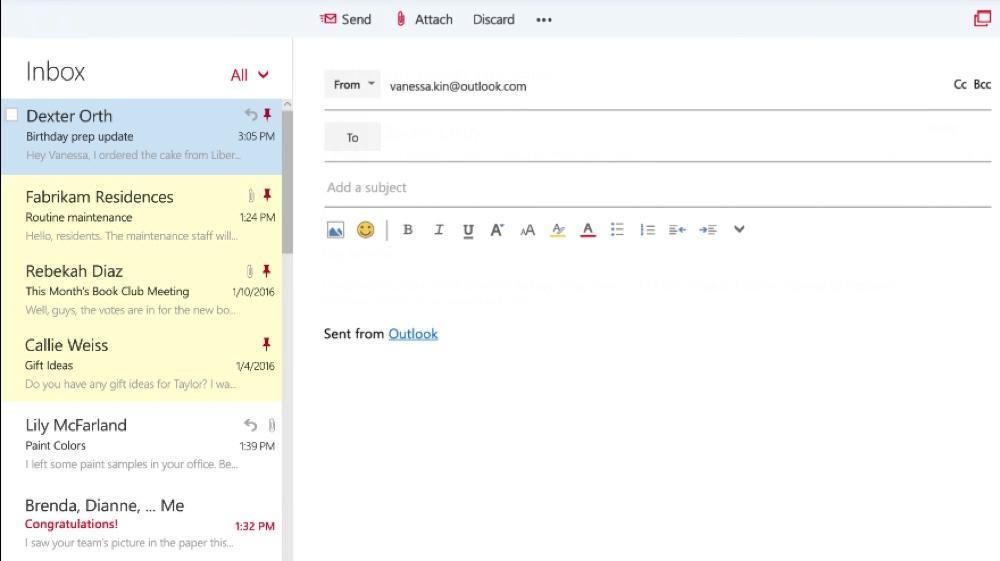 Escrever um e-mail com o Outlook