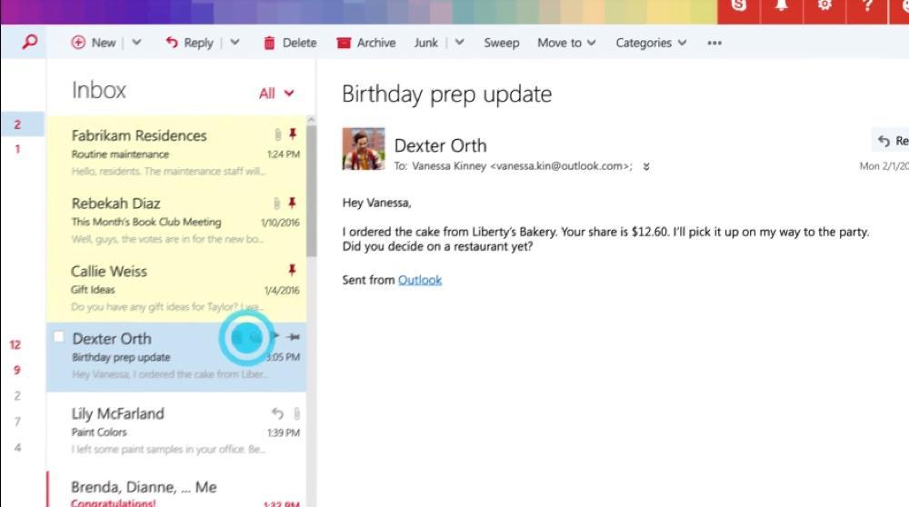 Gerenciando e-mails no Outlook