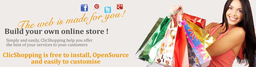 Avaliação ClicShopping: Open Source B2B / B2C e-commerce, gratuito, fácil de usar - appvizer