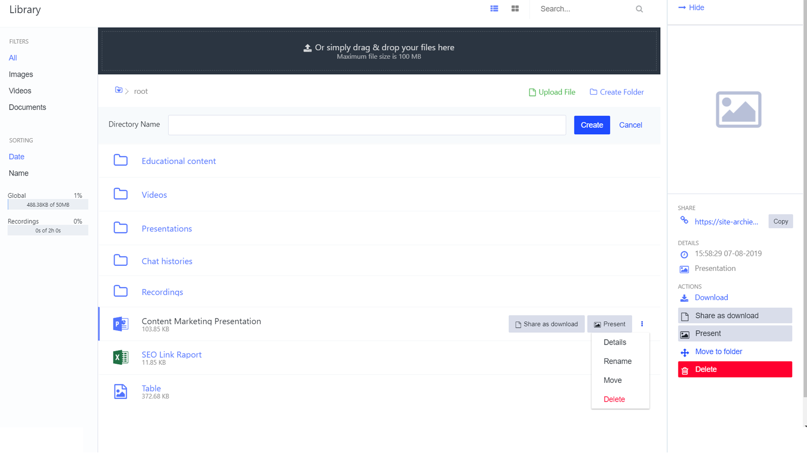LiveWebinar-storage