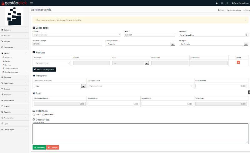 Avaliação Gestão Click: Um ERP com dezenas de funcionalidades - appvizer