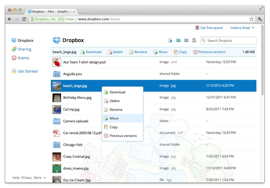 DropBox: pastas compartilhadas, Auditorias e Certificação (SAS 70, ISO 27001/2, TRUSTe), Document Viewer