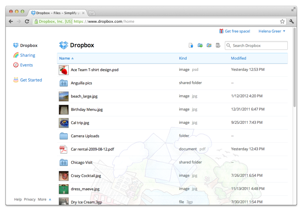 DropBox: documentos de sincronização, controle rigoroso de acesso aos servidores, backup diário