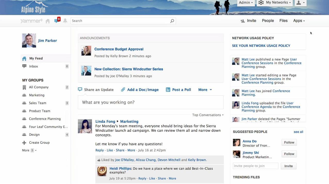 Yammer: wiki Conhecimentos básicos, News Feed, Secure Sockets Layer (SSL)