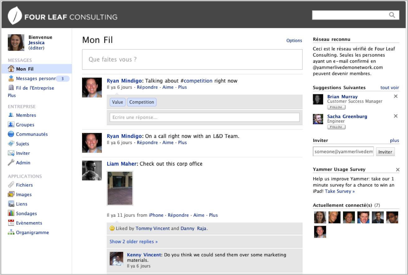Yammer: Conversas e mensagens, gerenciador de tarefas, edição e compartilhamento de conteúdo