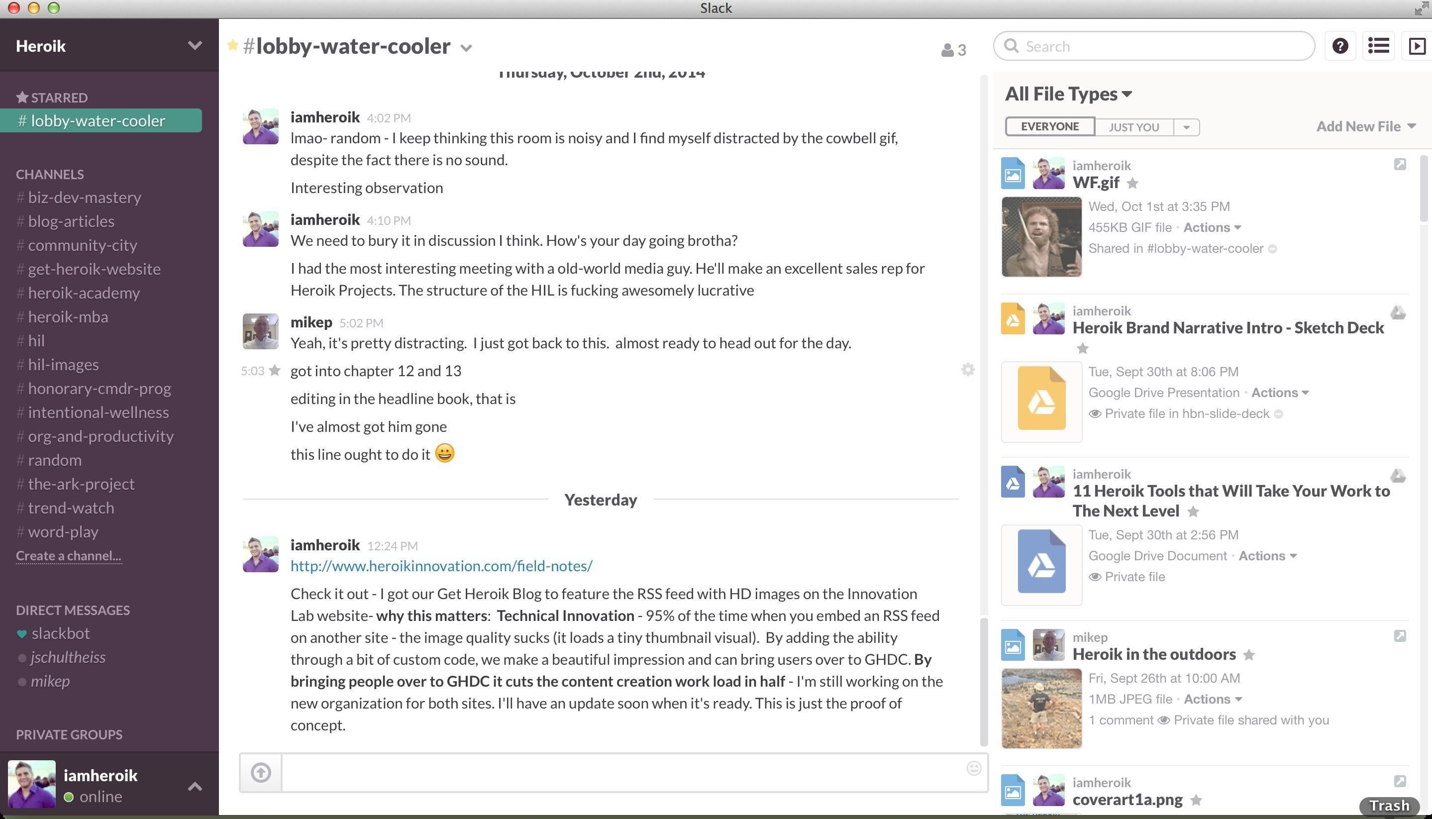 Slack: mensagens instantâneas (IM) Compatível Mac OS, Instant Messaging (IM)