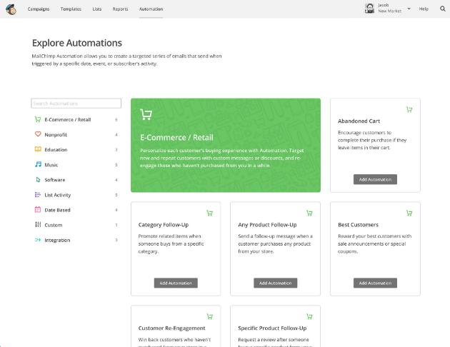 Automatizar e-mail com MailChimp