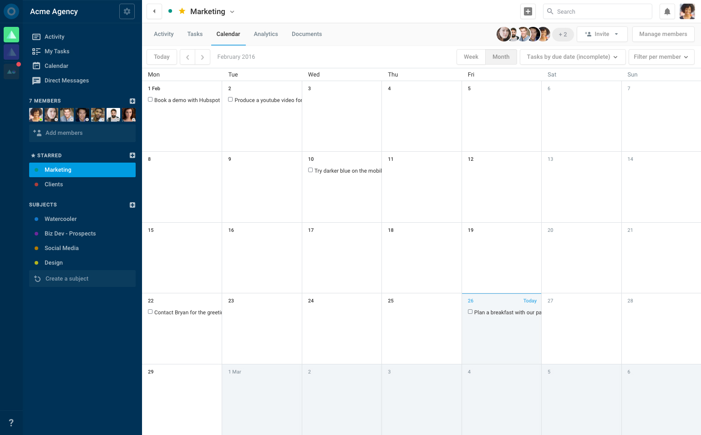 Exibir o calendário de